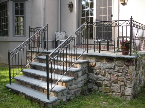 Apr 4, 2015 Exterior Railings, Exterior Wrought Iron, Ornamental Railings, Exterior  Stair Railings, Patio Railings, Backdoor Entrance, Back Pation Railings ...