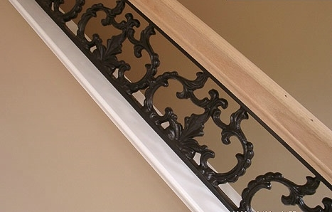 indoor salvaged kits iron metal rail wrought stair staircase decorative railings railing spindles interior and design from