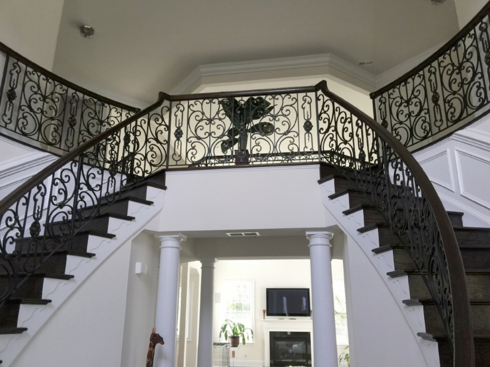 wrought iron railing interior balcony