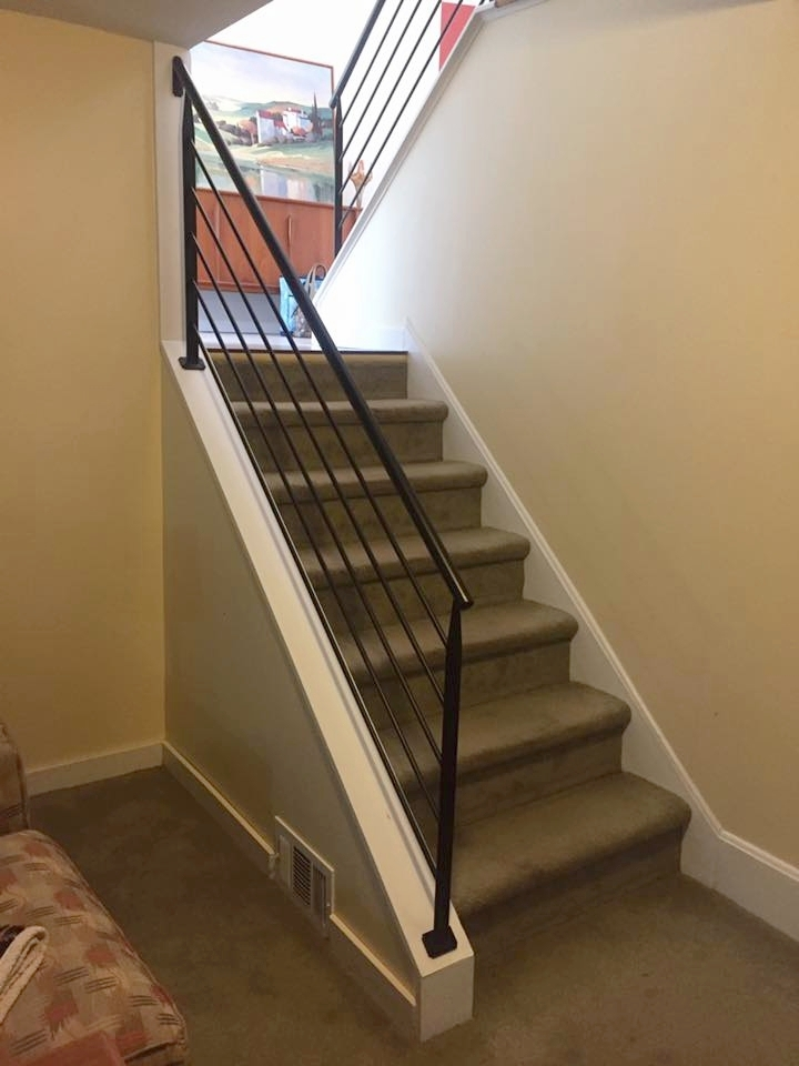 wrought iron interior railings for an easy way to add a sleek