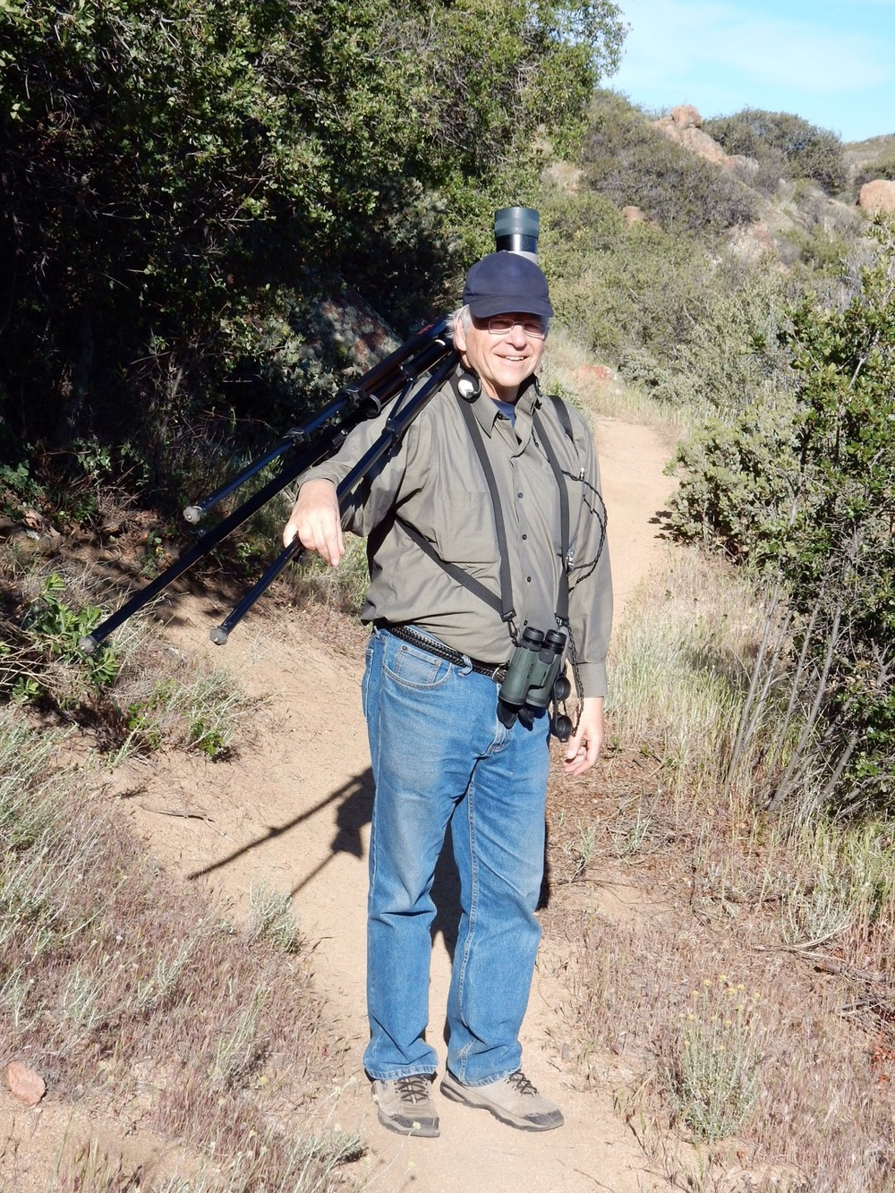Searching for mountain quail and gray vireo. Happy hunting, Mark!