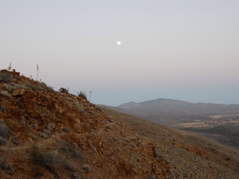 The moon overlooking the PCT