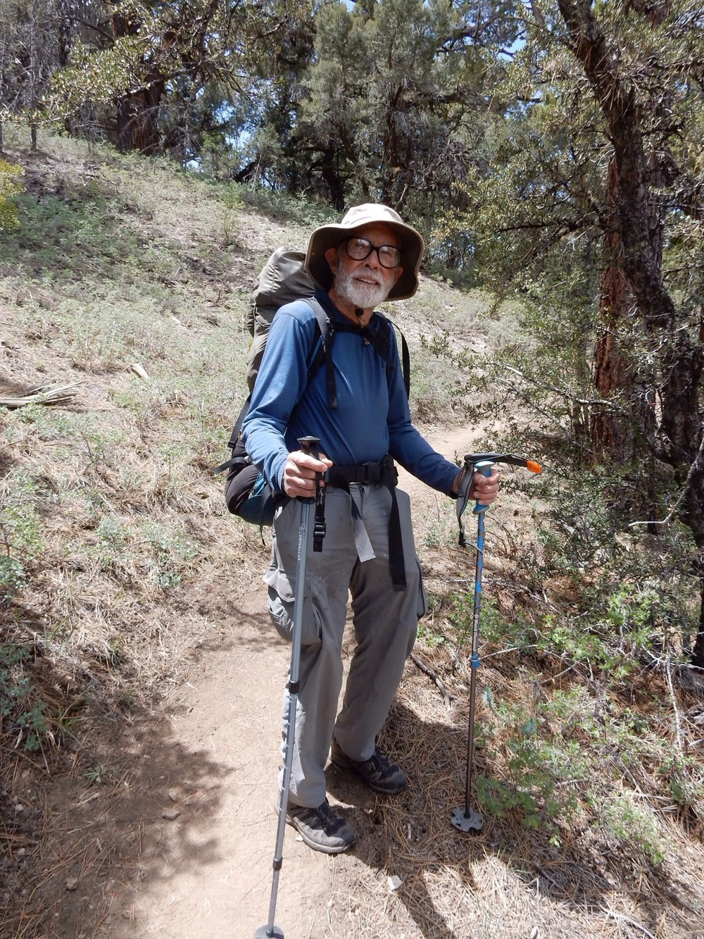 He thru hiked the Appalachian Trail at the tender age of 70.