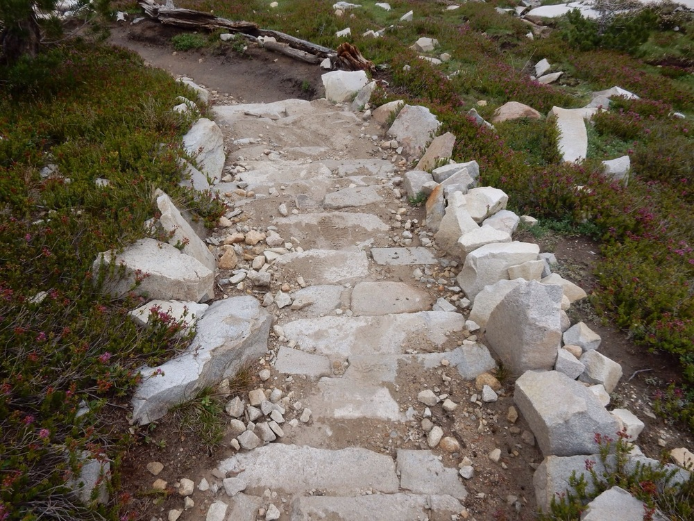 Not these rocks, I'm pretty sure this is a half finished stairway.