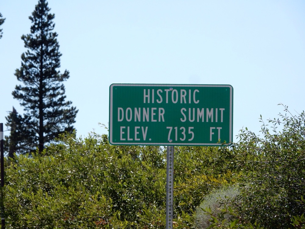 The Donner Party got stuck trying to go over this pass back in 1846.