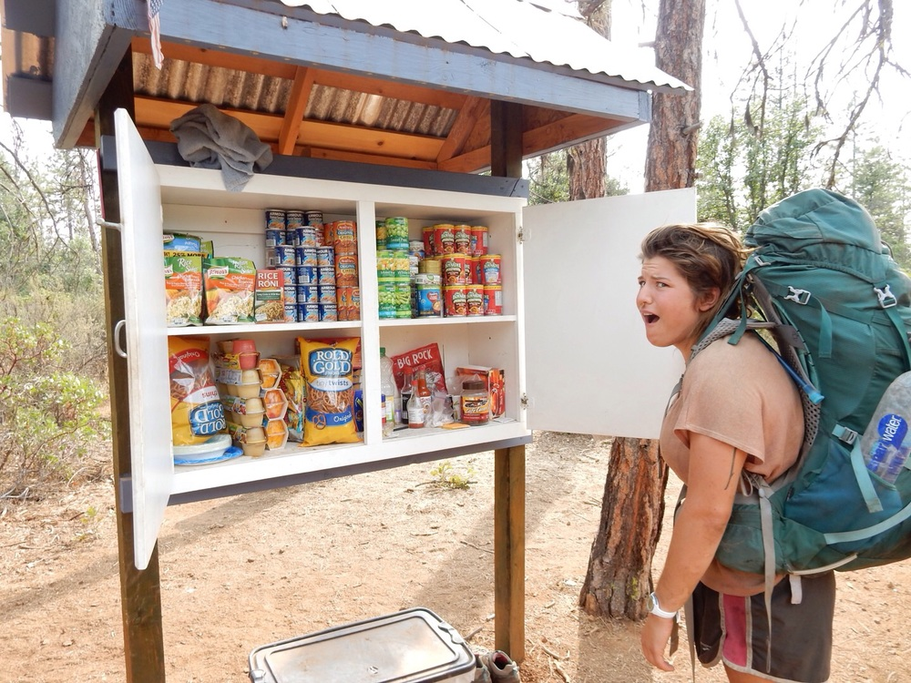 A Trailside pantry full of food?!