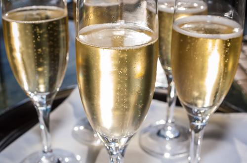 Champagne filled glasses, created for the Florida Winefest. ©2005 John Slemp