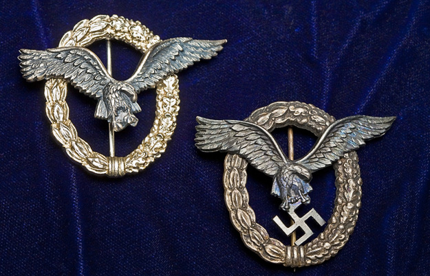 Nazi pilot wings from WWII.