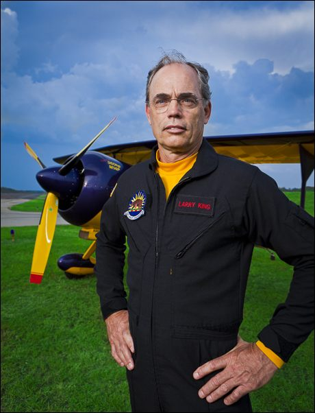 Aerobatic pilot Larry King photographed this summer, in Lawrenceville, Ga.  This image was one of several created for his advertising needs.  ©2011 John Slemp