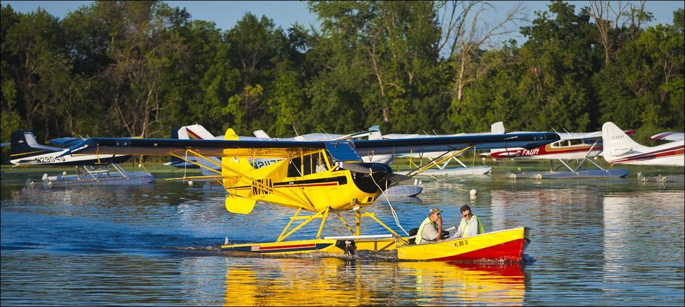 The Seaplane Base on Lake Winnebago near Oshkosh, Wisconsin.