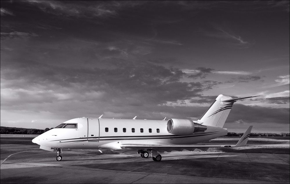 Challenger 604, on the ramp at Atlanta's Charlie Brown Airport.