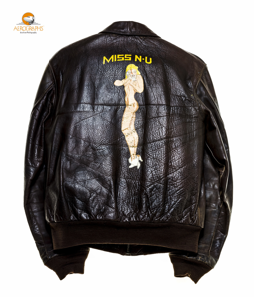 The back side of Mr. A.B. Clement's A2 jacket  .  ©2014 John Slemp