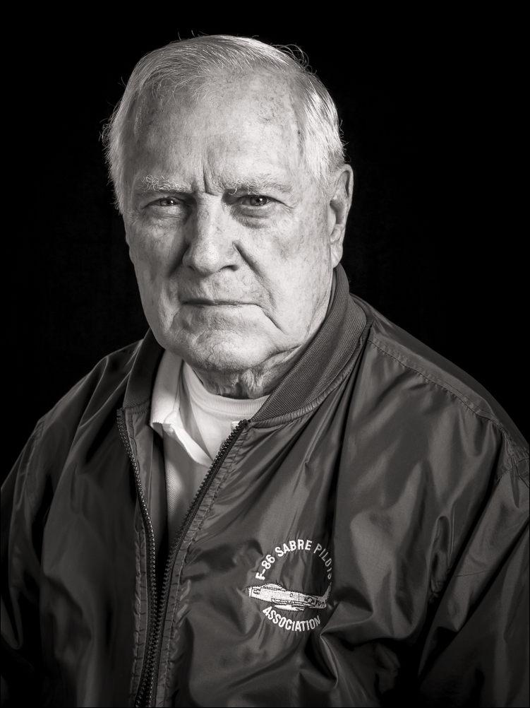 Willie C. Leach, F-86 pilot in Korea.