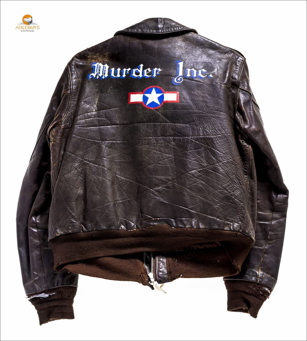 "The ""Murder Inc."" jacket, which became a propaganda tool by the Nazi regime after the owner was shot down and captured.  Courtesy of the Smithsonian National Air and Space Museum.  ©2015 John Slemp"