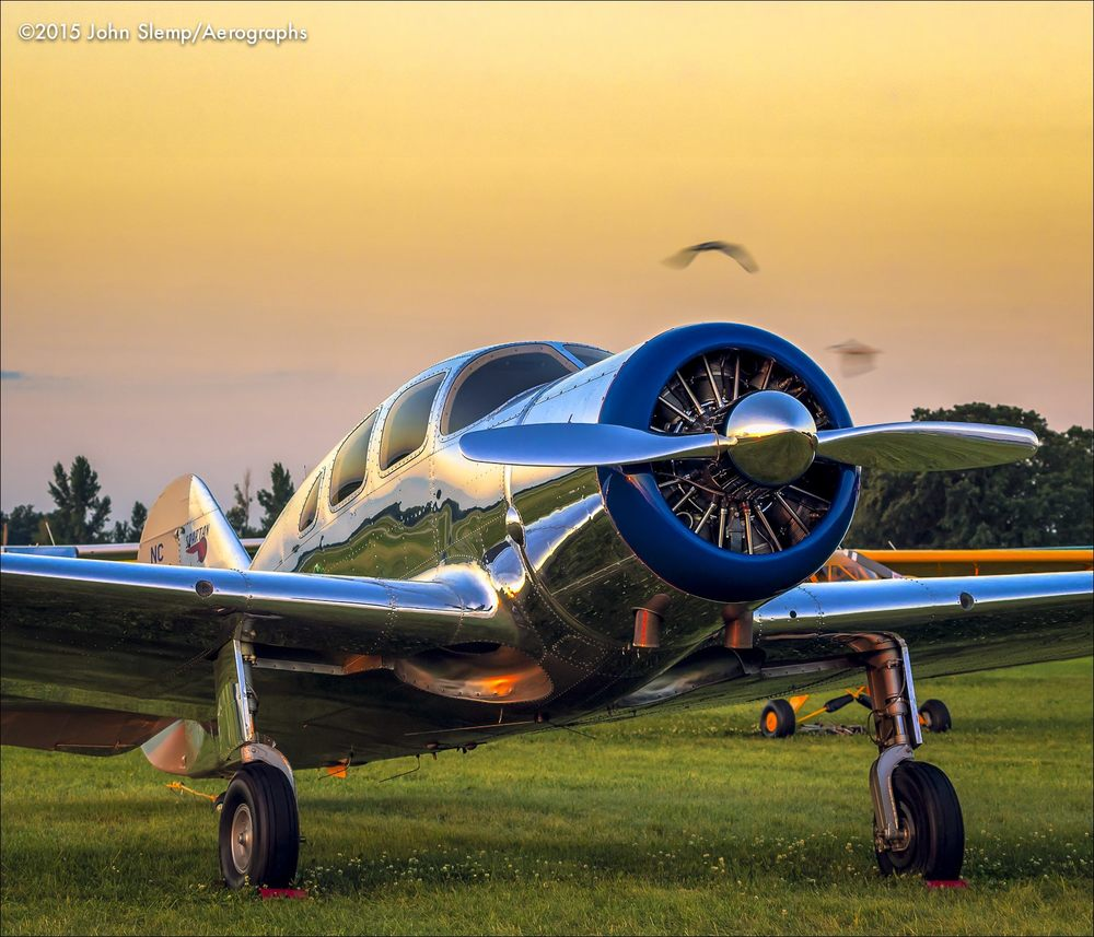 A lovely Spartan Executive, photographed at dawn during AirVenture 2015 in Oshkosh, Wisconsin.  ©2015 John Slemp