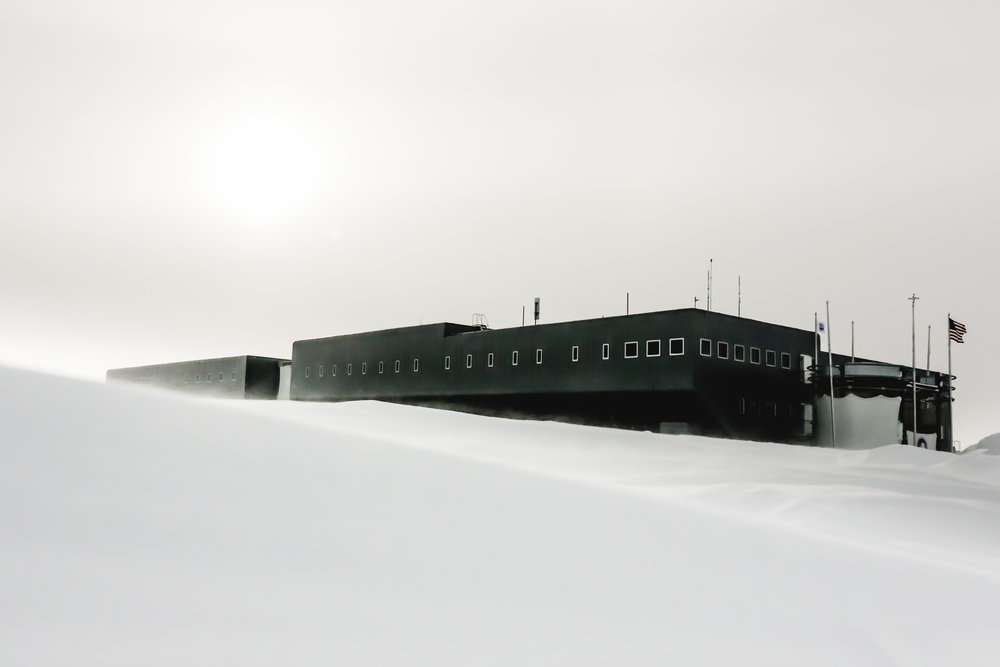 South Pole Station on a summer day. 2016
