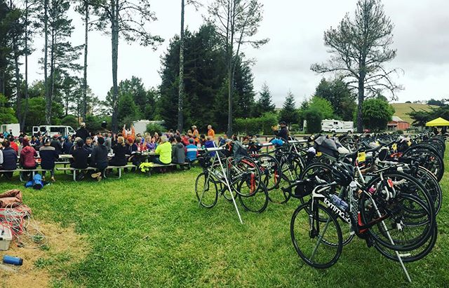 Today was rough. After my first century, 4 days of hard riding and ~300 miles so far, I felt low and not confident and in pain. But what kept me going for 60 miles to Point Reyes was not only the incredible energy and support and love from my @climate_ride family, but knowing we've all raised HUNDREDS OF THOUSANDS of dollars for environmental orgs that means something to us. Tomorrow is the last day of our journey. We'll wind through Marin and climb Mt. Tam, then cross the Golden Gate Bridge. Tomorrow is also your last chance to DONATE to my fund to support @bikesantacruz (link in bio!) #climateridecalifornia #legsareburning