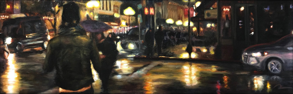 """Gaslamp at Night II"""