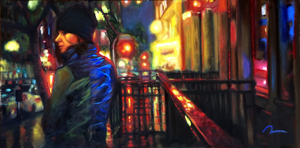"""Gaslamp at Night III"""