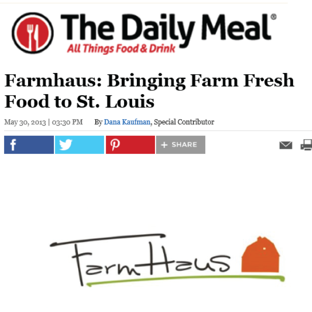 "THE DAILY MEAL ""Farmhaus only provides its guests with the tastiest dishes made with the best local ingredients."""