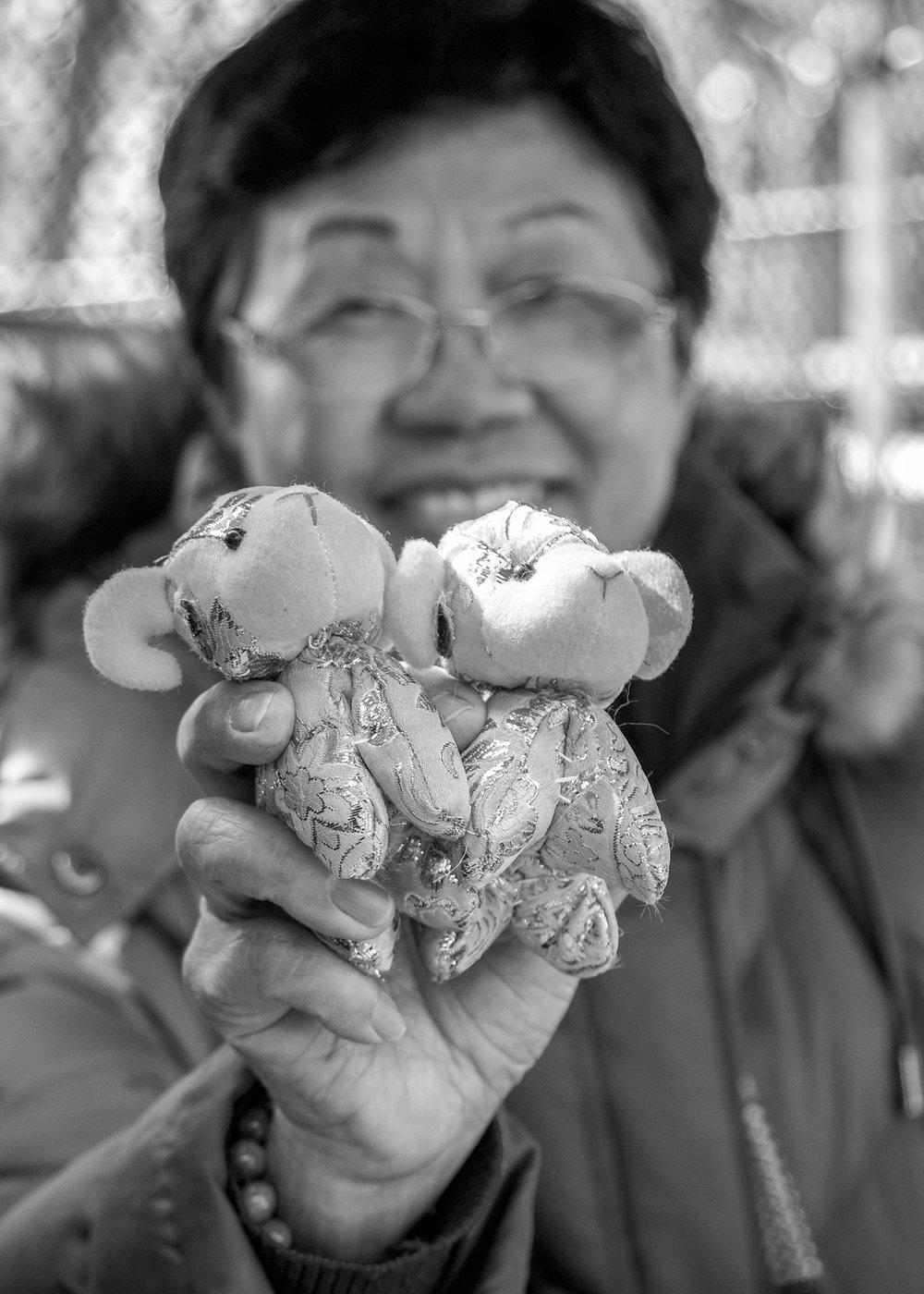 Market lady, Chinatown, NYC