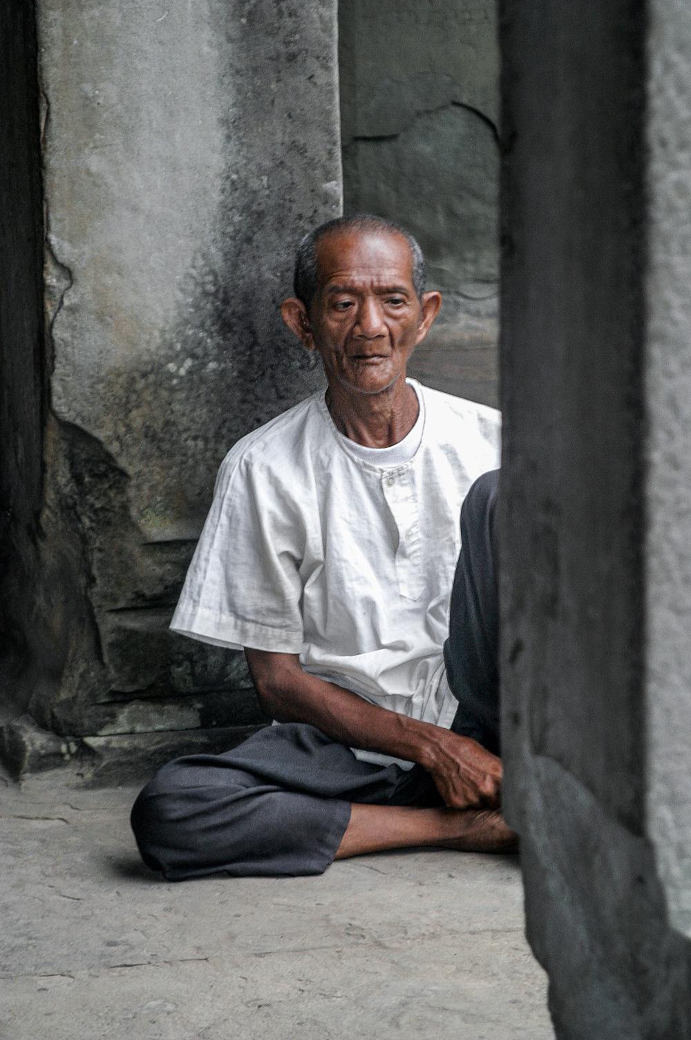 Temple man - Angkor Wat, Cambodia