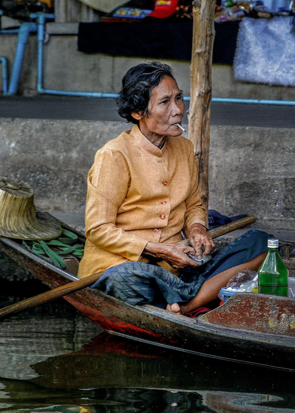 River Market seller, Bangkok