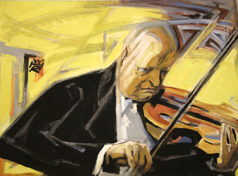 "'Hindemith' — Original Oil Painting by Artist and Stage Designer, Rudolph Heinisch (1896-1956).                                                                                       Declared ""Degenerate"" by the Nazi Regime (1952)."