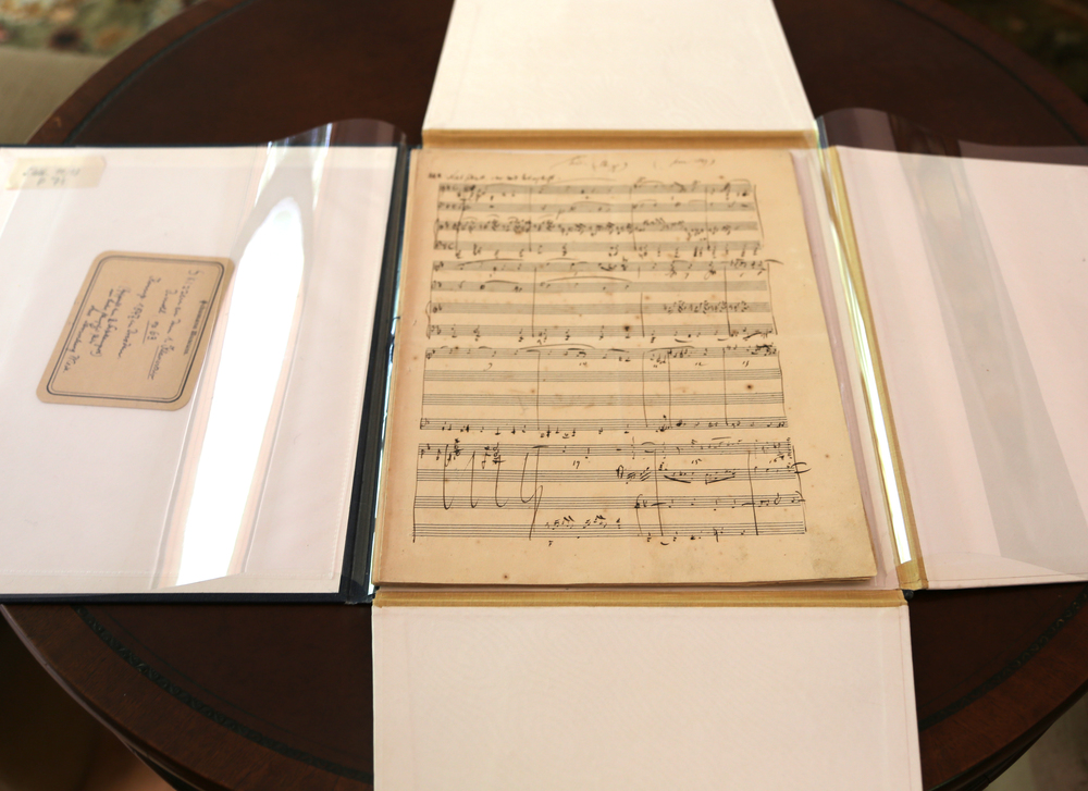 Autograph Manuscript of the Piano Trio No. 1 in D Minor, Op. 63 — Schumann (June 1847).