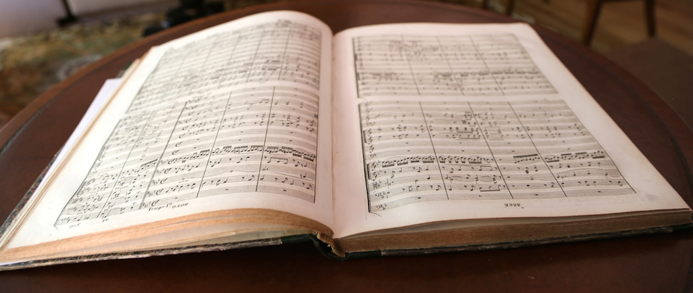 Beethoven: First Edition of the Full Score of the Ninth Symphony (Mainz, 1826).