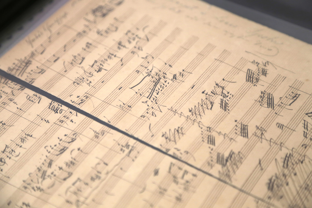 Spohr: Autograph Manuscript Fragment of a Piano Trio.