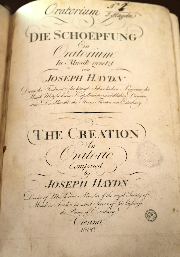 Haydn: First Edition First Issue of  Die Schöpfung  ist  ein Oratorium (Vienna, 1800).