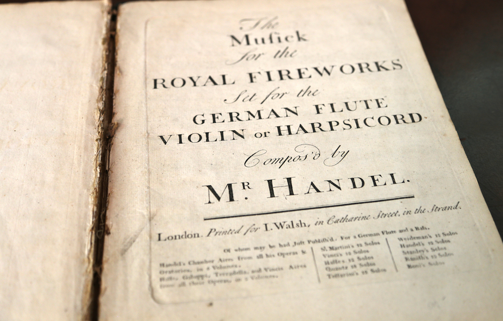 Handel:  Musick for the Royal Fireworks  (London, c. 1760).
