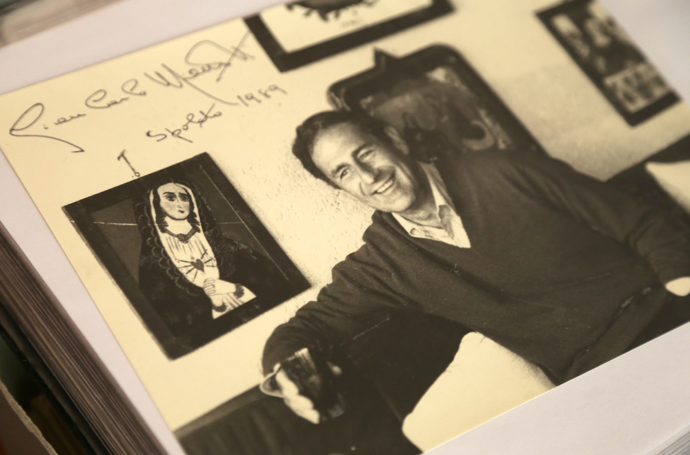 Gian Carlo Menotti: Signed Photograph (Spoleto, 1989).