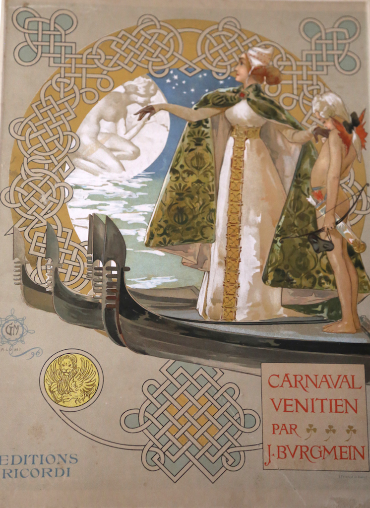 Burgmein [pseud. Giulio Ricordi]:   Carnaval Vénitien  (Milan, 1908) — a fine example of Italian music illustration of the late-19th century.