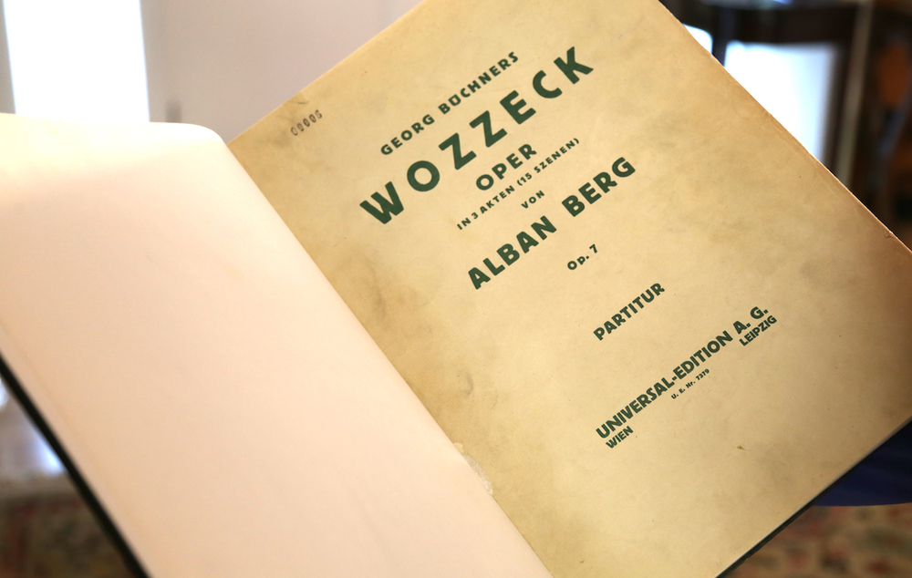 Berg: First Edition of the Full Score of  Wozzeck  (Vienna, 1926).