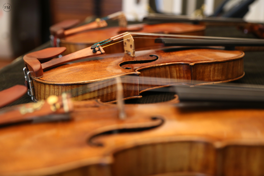 From Left to Right: Antonio Stradivari (c. 1712); Guarneri Del Gesu (c. 1732); Guarneri Del Gesu (1741)