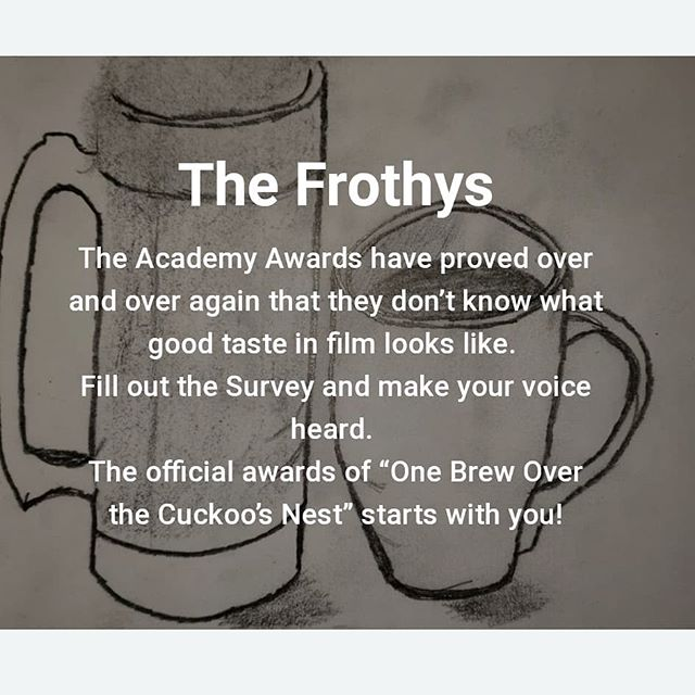 """Go to onebrewover.com/thefrothys and cast your vote for the upcoming awards """"The Frothys."""" #TheOscars could learn a thing or two from us (we didn't have any trouble finding a host)"""