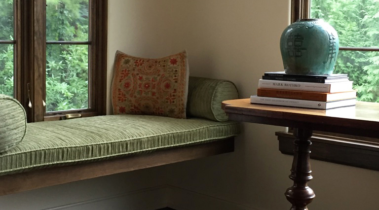 Mediterranean Reading Nook by Erin McKenna Design