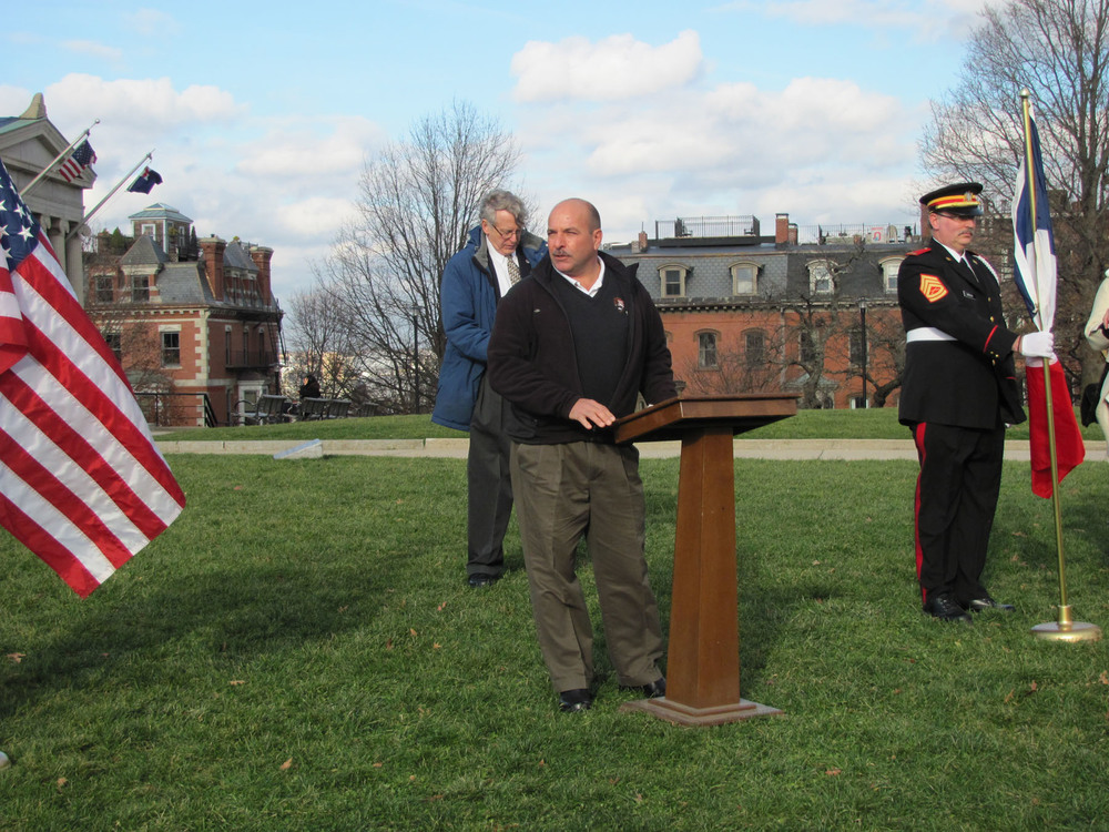 National Park Service's Joseph DeBello, the Superintendent for the Washington Rochambeau Revotionary Route, speaks
