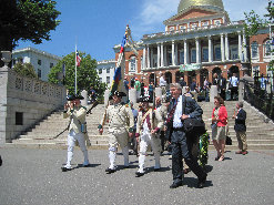Alan R. Hoffman (MLS President) leads the procession from the State House to the Lafayette Mall