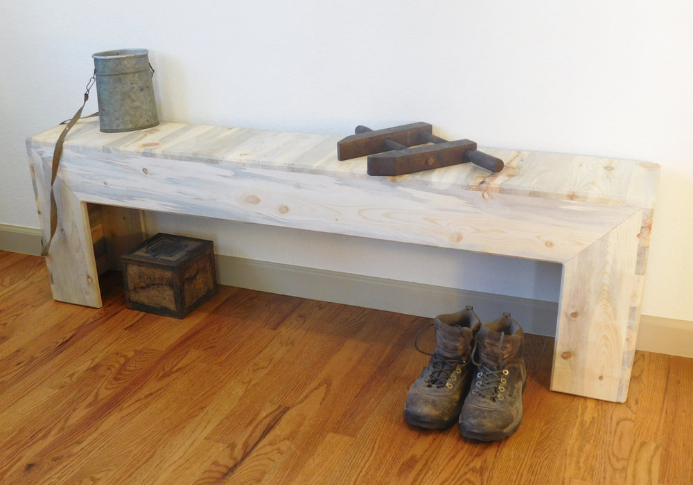 Beetle kill pine long bench - $425