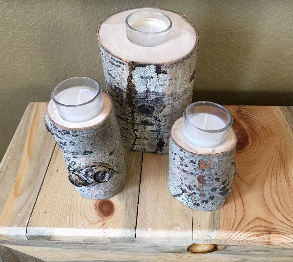 Aspen candle holder - $12
