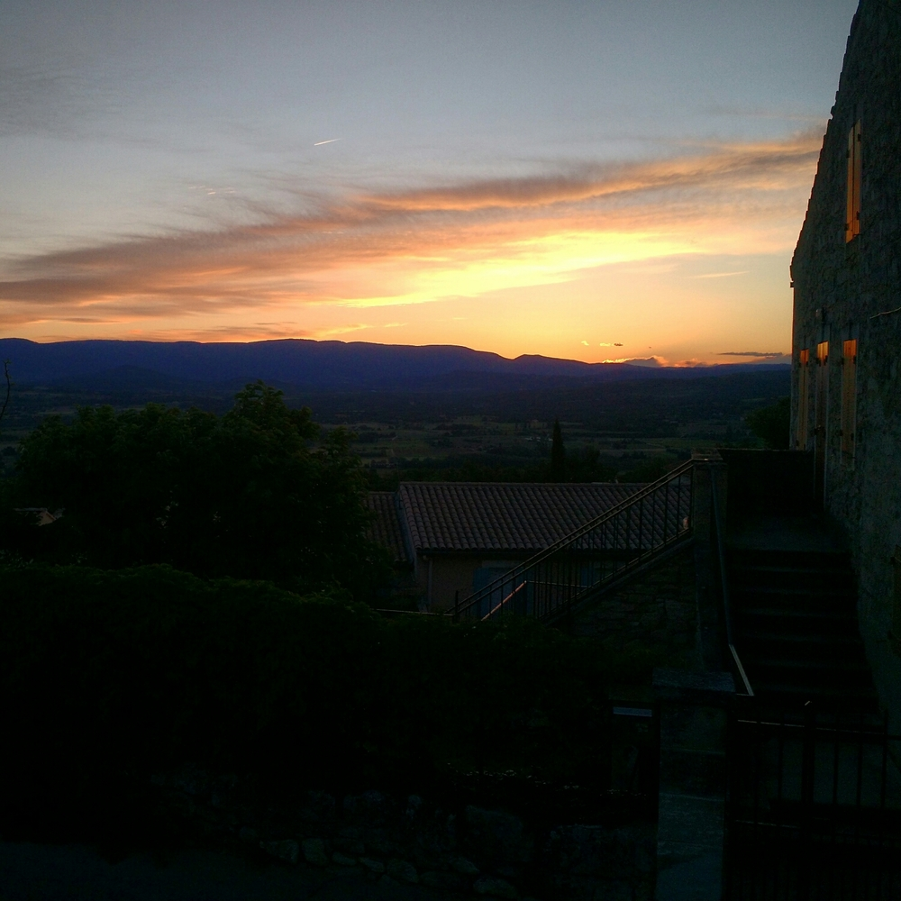 Last Day in Lacoste, France. Sunrise, Spring 2015