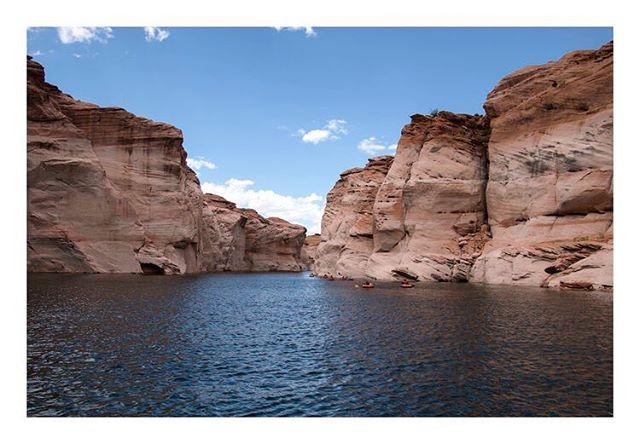 Sacred Land  Page, Arizona  Summer 2016  #pagearizona #explorearizona #lakepowell #kayaklife #hiddencanyon #roadtrip #summer2016 #landscape #sacredland #photoseries #photography #canonphotography #blueskies #love