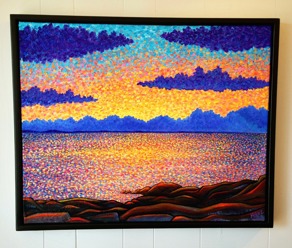Flat Rocks Sunset Oil 2013