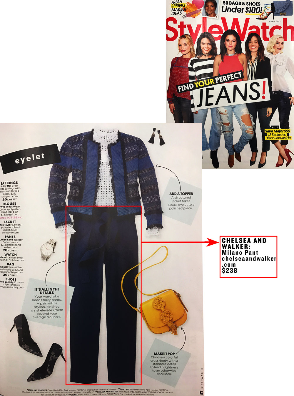 MILANO PANT | StyleWatch Magazine April 2017 currently OOS - Shop other styles here