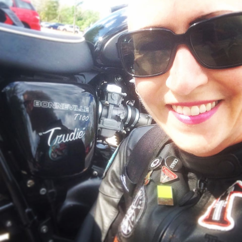 Me and my 2010 Triumph Bonneville T100!