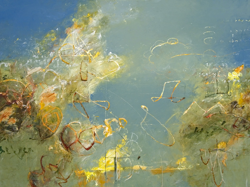 "Seas of Archimedes 02    2012, Acrylic on canvas, 36"" x 48"""