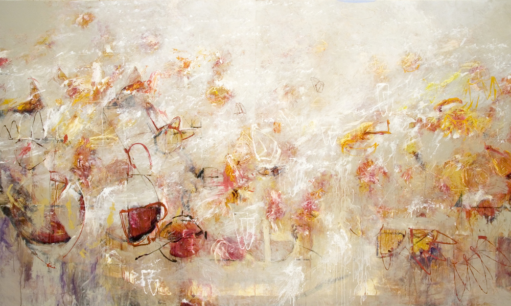 "Breath of Archimedes 01  2012, Acrylic on canvas, 72"" x 120"""